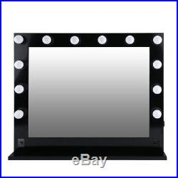 Chende Hollywood Makeup Vanity Mirror Lighted Mirror Dimmer Black+FREE LED Bulbs