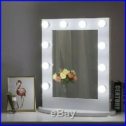 Chende Hollywood Makeup Vanity Mirror with Light Tabletops Lighted Mirror with D