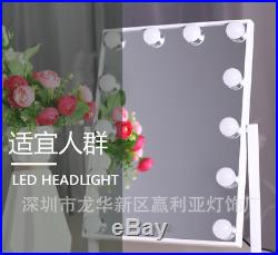 Chende Large Table Vanity Mirror with Lights Hollywood Style Touch Screen 360°