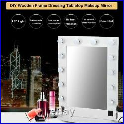 Chende Large Table Vanity Mirror with Lights Hollywood Style with 12 LED Bulbs EK