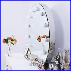 Chende Large Vanity Mirror with Lights 27.56 x 25.6 Dimmable Hollywood Make