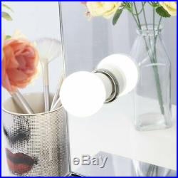 Chende Stainless Steel Vanity Mirror with Light Bulbs Hollywood Style Lighted