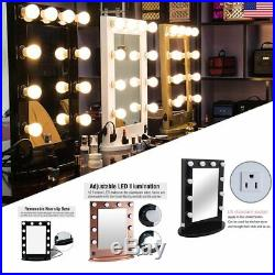 Chende Tabletops Vanity Mirror with Lights Hollywood Style with 10 LED bulbs MY