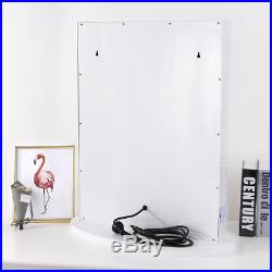 Chende Tabletops Vanity Mirror with Lights Hollywood Style with 12 LED bulbs