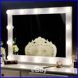 Chende Vanity Mirror Wall Mounted Hollywood Lighted Makeup with 3 Color Conversion