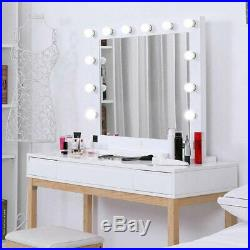 Chende Vanity Mirror With Lights Hollywood Style Makeup Mirror with 12 Dimmable LEDs