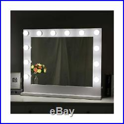 Chende White Hollywood Lighted Makeup Vanity Mirror Light, Makeup Dressing Ta