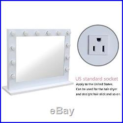 Chende White Hollywood Lighted Makeup Vanity Mirror Light with Dimmer Christmas