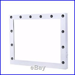 Chende White Hollywood Makeup Vanity Mirror Lighted Mirror with Free LED Bulbs\