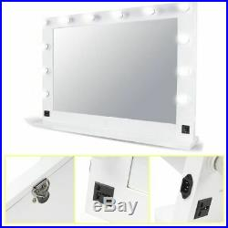 Chende White Hollywood Makeup Vanity Mirror with LED Light Stage Large Beauty TO