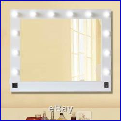 Chende White Hollywood Makeup Vanity Mirror with Light Stage Large Beauty KZ