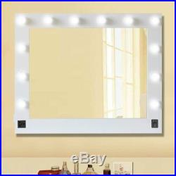 Chende White Hollywood Makeup Vanity Mirror with Light Stage Large Beauty Mirror Y