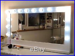 Classique Traditional bespoke Hollywood style vanity mirror with LED bulbs