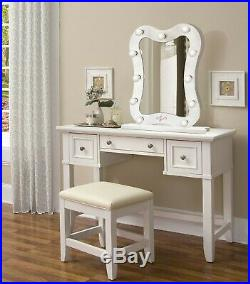 Curved LED Lighted Hollywood Makeup Vanity Mirror Table Top