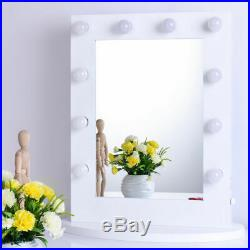 DOV LUXURY Tabletops Vanity Mirror with Lights Hollywood Style with 12 LED bulb