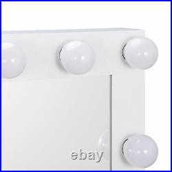 Dimmer Free Bulbs Vanity Mirror with Light Hollywood Makeup Lighted Mirror
