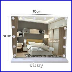 Extra Large, 80cm x 60cm Hollywood Style Makeup Mirror With Lights NEW