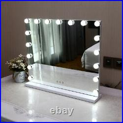 Extra Large Hollywood Vanity Dressing Makeup Table Top Mirror With 17 LED Lights