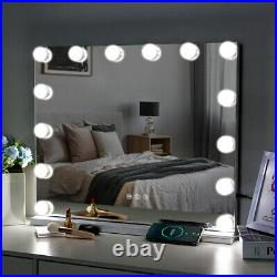 FENCHILIN Bluetooth Hollywood Vanity Makeup Mirror with Lights 14 LED Bulbs