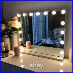 FENCHILIN Hollywood Lighted Makeup Mirror with 15 Dimmable LED Bulbs Large Vanity