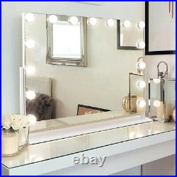 FENCHILIN Hollywood Vanity Makeup Mirror with Lights Bluetooth 360° Rotation