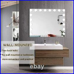 FENCHILIN Hollywood Vanity Mirror with Lights USB Port LED Lighted Makeup Mirror
