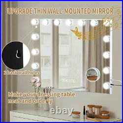 FENCHILIN Hollywood Vanity Mirror with Lights Vanity Mirror with Bluetooth
