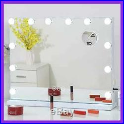FENCHILIN LARGE Vanity Mirror W Lights Hollywood Lighted Makeup 12 Dimmable LED