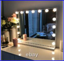 FENCHILIN Large Vanity Mirror with Lights, Hollywood Lighted Makeup Mirror