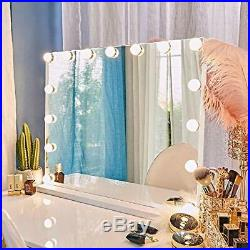 FENCHILIN Large Vanity Mirror with Lights and Blutooth Speaker Hollywood Ligh