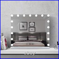 FENCHILIN Large Vanity Mirror with Lights and Charging Port, Hollywood Lighted &