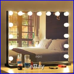 FENCHILIN Vanity Mirror with Lights, Hollywood Lighted Mirror with Dimmer Bulbs, T