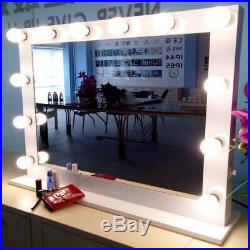 Fashion Hollywood Makeup Vanity Mirror Large Beauty Mirror+FREE 14LED bulbs US