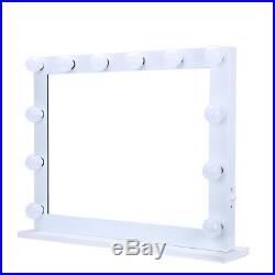 Fashion White Hollywood Makeup Vanity Mirror with Light Stage Large BeautyMirror