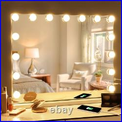 Fenair Makeup Mirror with Lights and Magnification USB Outlet Hollywood Vanity 3