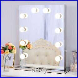 Frameless Hollywood Mirror with Lights Lighted Vanity Makeup Mirror Beauty Room
