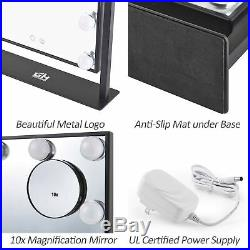Geek-House Rechargeable Lighted Vanity Mirror Hollywood Style Makeup Tabletop
