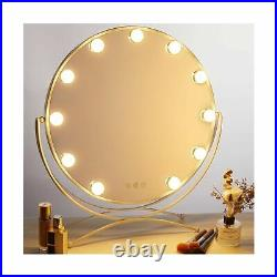 GeekHouse Lighted Vanity Mirror Hollywood Style Makeup Tabletops, Large Cosme