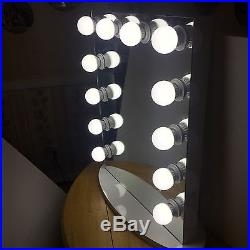 Grand Hollywood 24 Lighted Vanity Mirror with12LED Bulbs Table Top Or Wall Mount