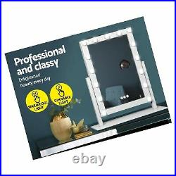 HANSONG Large Vanity Makeup Mirror with Lights, Hollywood Lighted Dressing Tab