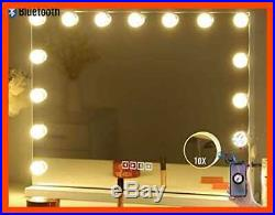 Hansong LARGE Bluetooth Vanity Makeup Mirror W Lights Hollywood Lighted Dressing