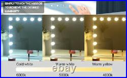 Hansong Large Bluetooth Mirror Vanity Makeup with Lights, Hollywood Lighted