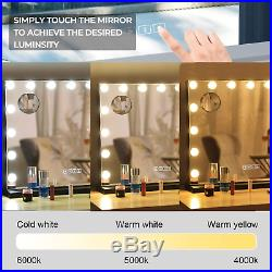 Hansong Large Bluetooth Vanity Makeup Mirror with Lights, Hollywood Lighted Dress