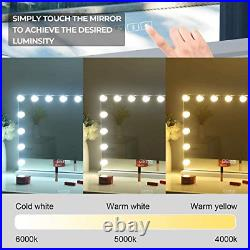Hansong Large Bluetooth Vanity Makeup Mirror with Lights, Hollywood Lighted with