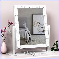 Hansong Large Hollywood Makeup Vanity Mirror with Lights, Plug in Light-up 10x 15