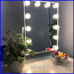 Hansong Large Hollywood Makeup Vanity Mirror with Lights, Plug in Light-up Mirror