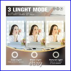 Hansong Large Hollywood Makeup Vanity Mirror with Lights, Plug in Light-up Pro