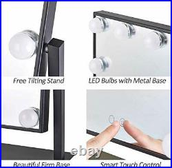 Hansong Large Hollywood Makeup Vanity Mirror with Lights, Plug in Light-up Profes