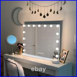 Hansong Large Vanity Makeup Mirror With Lights, Hollywood Lighted Mirror With 15