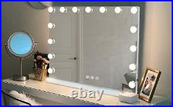 Hansong Large Vanity Makeup Mirror with 15 Dimmable Hollywood Lights
